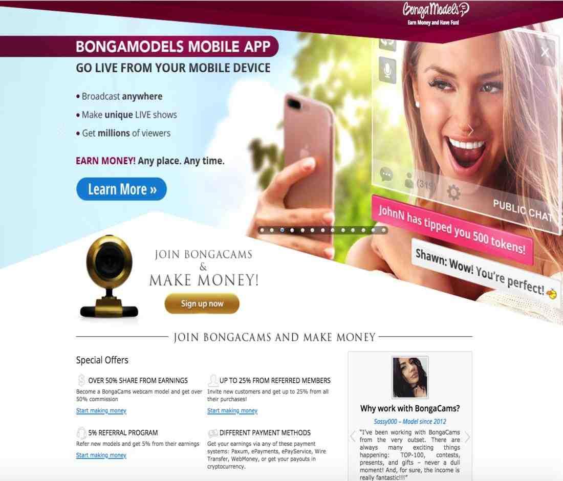 Webcam Jobs at BongaModels